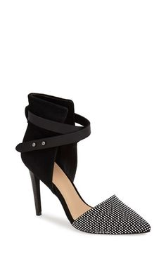 Joe's 'Laney' Pump at Nordstrom.com. A bold cutout adds a sculptural quality to a strappy pump with slightly padded footbed and a modern set-back heel.