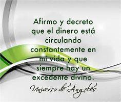 Yo Marianela Castillo Herrera afirmó y decreto en el nombre de Dios y en el universo  mi prosperidad