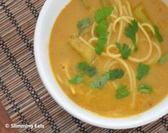 Spicy Opo Squash Soup with Noodles | Slimming Eats - Slimming World Recipes