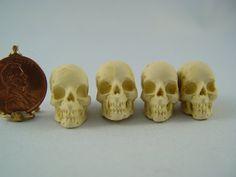 Dollhouse Miniature Halloween Skull for Goth by CathysMiniatures, $5.99