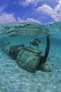 Image detail for -snorkeling at the Zero Fighter airplane wreck, Micronesia, Pacific, Palau