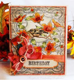card designed by Michele Kovack using Song Bird Background