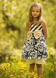 One Good Thread - Persnickety - Rose Dress - Navy Summer Celebration Bow Dress, $60.00 (http://www.onegoodthread.com/persnickety-rose-dress-navy-summer-celebration-bow-dress/)