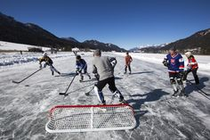 Eishockey am Weissensee Winter, Ice Hockey, Winter Time, Winter Fashion