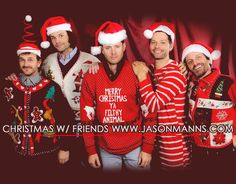 Merry Christmas Ya Filthy Animal ||| Richard Speight Jr., Jared Padalecki, Jensen Ackles, Misha Collins, and Rob Benedict