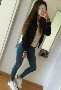 Simple Fall Outfits, Cute Casual Outfits, Summer Outfits, Teen Fashion Outfits, Mode Outfits, Girl Outfits, Teen Fashion Winter, Outfits Mujer, Fashion Women