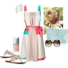 Colorblock Pleat Dress, gorgeous