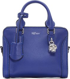 Alexander McQueen - Ultramarine Mini Padlock Bag Alexander Mcqueen Purse, Alexander Mcqueen Clothing, Purse Wallet, Clutch Bag, Crossbody Bag, Purse Styles, Womens Purses, Blue Denim, Purses And Handbags