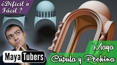 Tutorial sobre Modelar facilmente una cúpula sobre prchinas y con 4 arcos en Autodesk Maya !!! MayaTubers !!