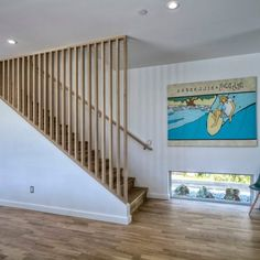 This Basement Stair Situation Required A Stair Rail That Can Be Removed, So  Big Items Can Be Carried Downstairs. The Top And Bottom U2026