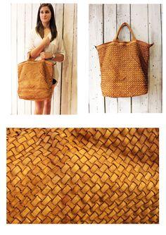 """Handmade woven leather bag """"INTRECCIATO 74"""" di LaSellerieLimited su Etsy"""