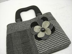 Clutch, Purse, Eco Friendly, Recycled Suit Coat,.  via Etsy. Sew Cute