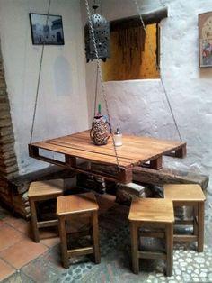 pallet handing table idea