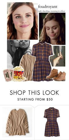 """""""Movie date with Lydia"""" by savingmarrish ❤ liked on Polyvore featuring American Eagle Outfitters, Topshop, Nature Breeze, TeenWolf and LydiaMartin"""