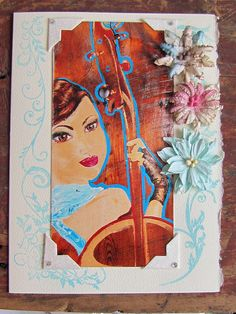 Card The misicien - La musicienne