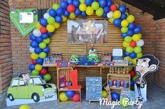 Petar i njegov rodjendanski kutak na temu Mr. Mr Bean Birthday, 2nd Birthday, Mr Bean Cake, Mr Bin, Bmw Cake, Magic Party, Colorful Cakes, Party Cakes, Birthday Party Themes