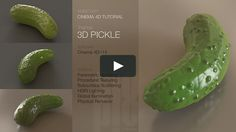 In this tutorial I show you how to model, texture, and render a pickle in C4D r14 using parametric objects, procedural textures, subsurface scattering, HDRI lighting,…