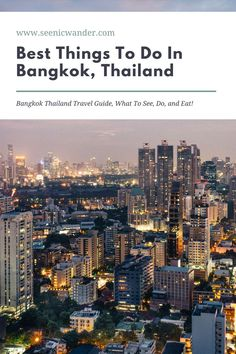 Bangkok Thailand Travel Guide! Discover the best things to do in Bangkok Thailand, as well as places to stay and delicious foods to try! You'll never wonder what to do in Bangkok again and you'll discover add ideas to your Bangkok travel bucket list! #bangkoktravel #thailandtravel