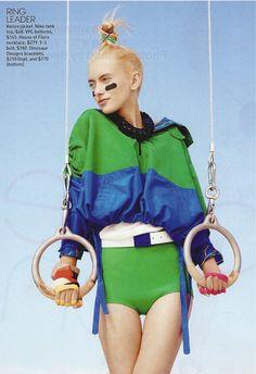 teen vogue- sportswear inspired photo shoot.