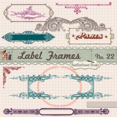 Free Vintage Border Frames Brushes Vectors Clipart by starsunflowerstudio.deviantart.com on @deviantART