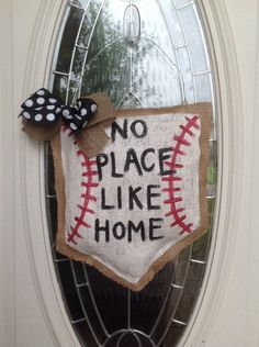 A personal favorite from my Etsy shop https://www.etsy.com/listing/233945793/baseball-home-plate-sports-door-hanger