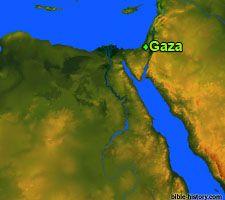 Map of Ancient Gaza