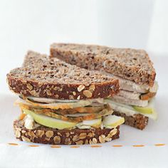 5 Brown Bag Lunch Ideas -----     A great lunch brightens up anyone's day. Check out these creative sandwiches for a delicious change from the ol' PB.