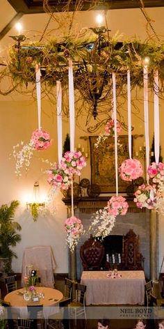 This would look FAB over your cake tables!!!!!!!!  Pink wedding flowers