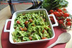 Pasta+con+pesto+di+rucola+e+pomodorini