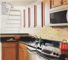 A Backsplash Solution For Rental Kitchens Fabric Under Plexiglass Kitchen Inspiration