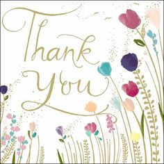NEW!!! A gorgeous new card to say Thank You in style....