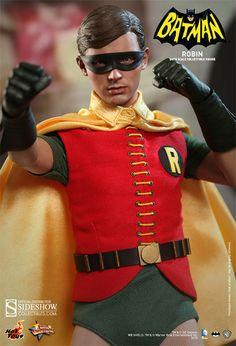 Introducing the Robin 1966 Sixth Scale Figure, featuring Burt Ward as Batman's faithful sidekick from TV Series and 1966 Batman film. Batman Robin, Batman 1966, Batman Art, Batman Comics, Superman, Dc Comics, Robin Dc, Batman Tv Show, Batman Tv Series