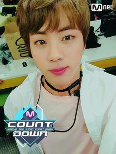 Jin❤ BTS At MCOUNTDOWN Selfie! (170223) #BTS #방탄소년단