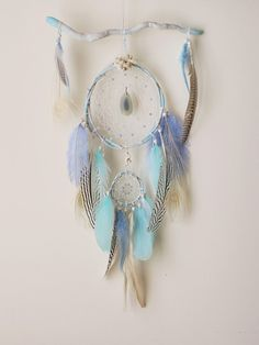 Dreamcatcher was created a long time ago by American Indians. Dreamcatcher is intended to protect sleeping people from bad dreams and give only sweet dreams. Dreamcatcher is more powerfull when it hanging closer to a headboard. In our time dreamcetchers basically used like interior