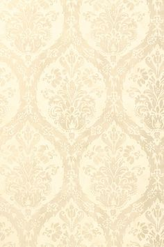 Cordoba Damask #wallpaper in #pearl from the Shangri-La collection. #Thibaut