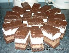 Csokis-tejszínes szelet