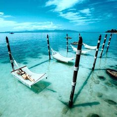 Hammocks over water