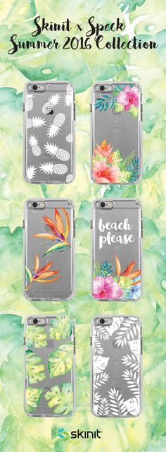 Splash into summer in style with the Skinit x Speck Summer 2016 CandyShell Clear Case Collection! Available for iPhone 6/6s & iPhone 6/6s Plus. Shop now at www.skinit.com #SkinitMade
