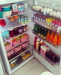 Storage Room Organization, Refrigerator Organization, Kitchen Organization Pantry, Kitchen Pantry, Organization Ideas, Organized Pantry, Fridge Storage, Storage Ideas, Household Organization