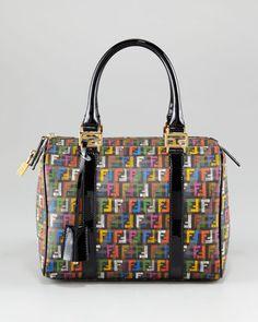 ShopStyle: Fendi Small Multicolor Zucca-Print Bowler