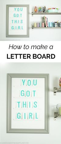 Step-by-Step instructions for making your own letter board! This project is such a fun DIY project to add so much personality to your home decor. Click over for the photo and video tutorial!