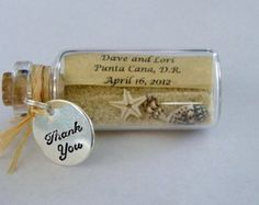 THANK YOU Mini Message Bottle FAVORS with or without magnets