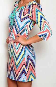 BESPOKE+VICTIM:+Amazing+Chevron+Dress