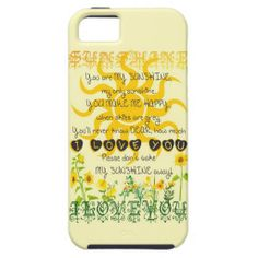 You are my sunshine... iPhone 5/5S covers