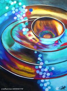 par Catherine Wernette, pastel sec, PLATOS Art Et Nature, Turquoise Color, Jewel Tones, Color Combos, Still Life, Art Drawings, Contemporary Art, Objects, Photos