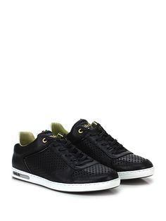 PANTOFOLA D'ORO - Sneakers - Uomo - Sneaker in pelle e vernice con suola in gomma. Tacco 25. - BLACK - € 145.00
