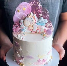 Doll Birthday Cake, First Birthday Cake Topper, Torta Baby Shower, Cake Decorating Supplies, Cake Decorating Techniques, Buttercream Cake, Fondant Cakes, Dipper Cakes, Drop Cake