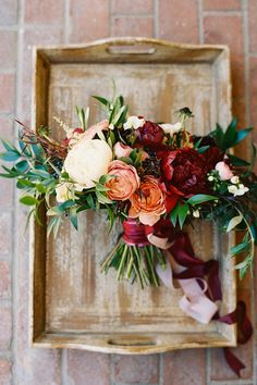 fall bouquet with velvet