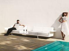 vondom 66013 sofa mit integriertem tisch flat 2 sitzer freisteller. Black Bedroom Furniture Sets. Home Design Ideas