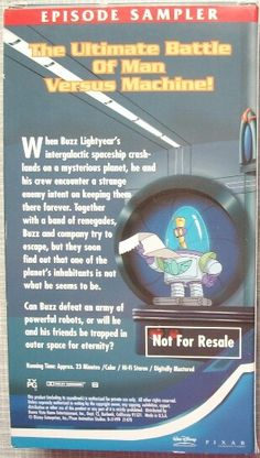 Buzz Lightyear Of Star Command Planet Of The Lost Sampler Vhs